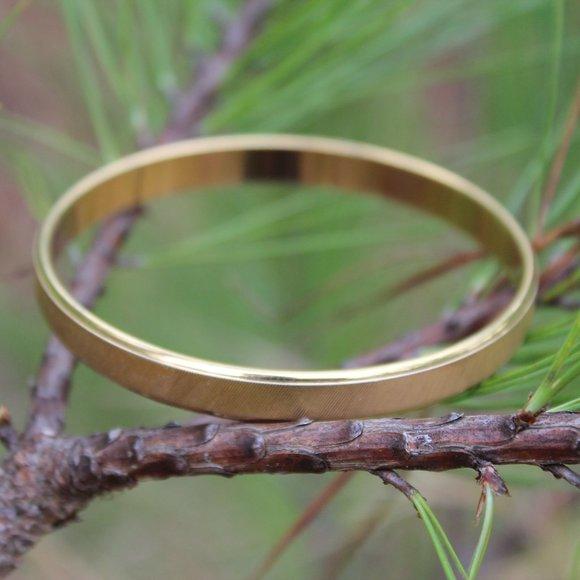 [5/$25] Monet Gold Simple Plain Bangle Bracelet